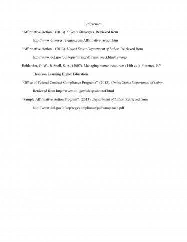 Affirmative action paper