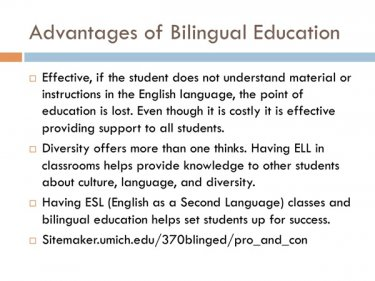 Bilingual Education: Toss It and Teach Kids English