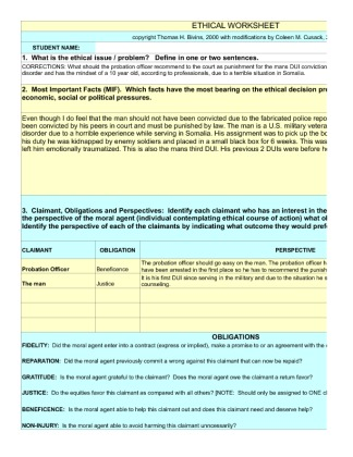 cja 324 ethical worksheet law enforcement See more of homework lance on facebook log in cja 324 week 2 individual ethical worksheet law enforcement cja 324 week 2 learning team ethical decision paper.