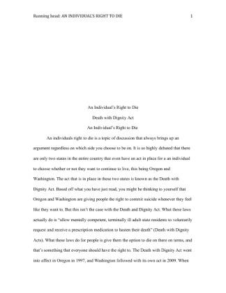 right to die essay paper