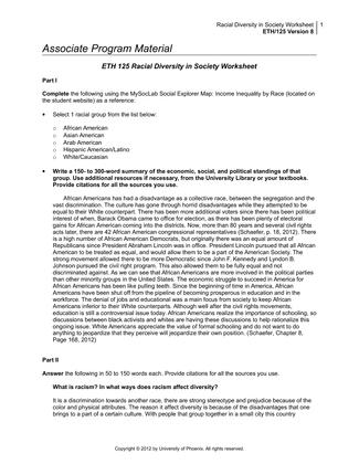 Ethics 125 hispanic american diversity