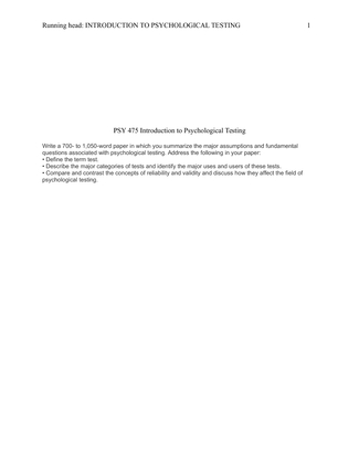 psy 475 tests and measures worksheet Snaptutorial is a online tutorial store we provides psy 475 week 5 team assignment measures of emotional and behavioralfunctioning presentation.