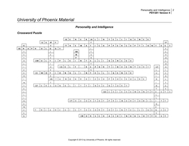 psy 201 personality intelligence crossword Psychology crossword puzzles to test your knowledge of specific topics in   psychology 101 -- stats -- research methods -- personality synopsis  education.