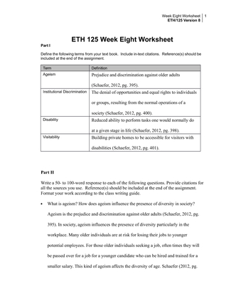 gender and sex worksheet eth 125 wk7 Eth 125 week 7 gender and sex appendix g (version 8) eth 125 week 8 aging and disability appendix i (version 8) eth 125 week 1 individual diversity worksheet vers eth 125 week 2 dqs version 8 eth 125 week 2 individual implicit association tes.