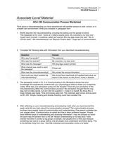 hca 230 communication process worksheet. Black Bedroom Furniture Sets. Home Design Ideas