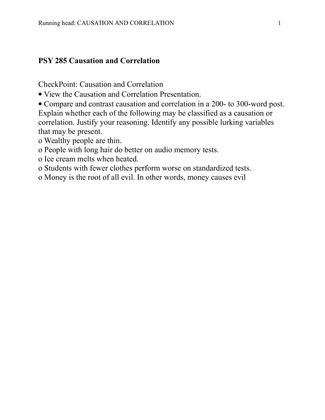 psy 285 causation and correlation dgoodz. Black Bedroom Furniture Sets. Home Design Ideas