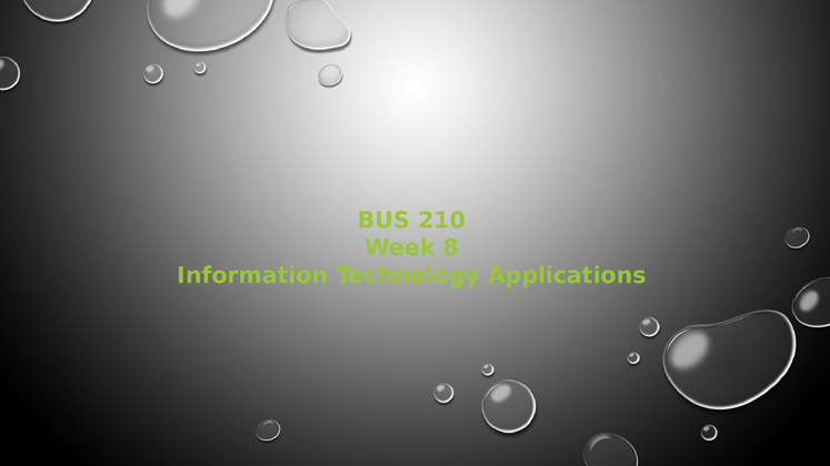 bus 210 week 8 Here is the best resource for homework help with bus 210 : business at university of phoenix find bus210 bus 210 week 8 checkpoint 2 hardware and software.