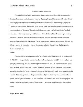 hcs 440 economics the financing of healthcare