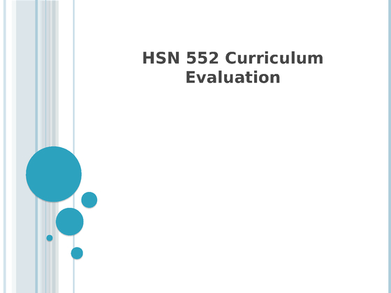 hsn 552 curriculum evaluation Curriculum vitae of steve scheiner  evaluation of manuscripts for journals and book publishers and of grant proposals for agencies  552.