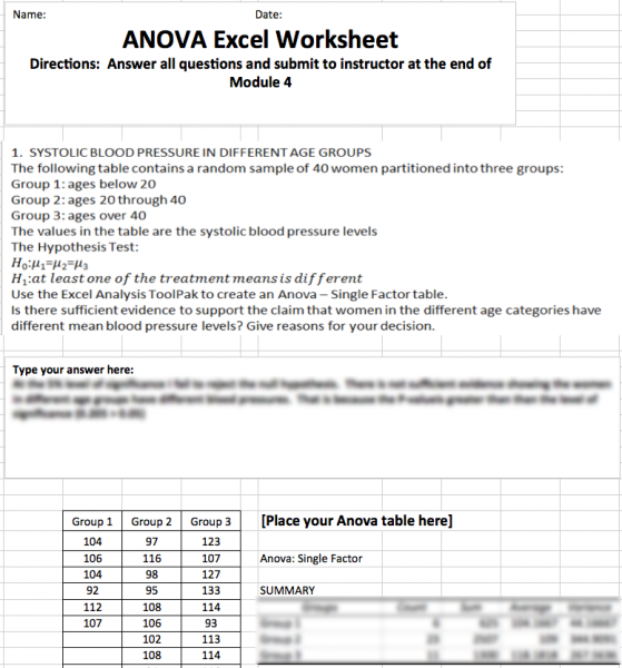 hlt 362v anova excel I already have an account here username or email address  password .