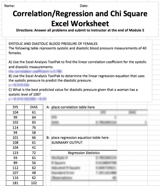 Read book hlt 362 module 5 exercise 27 simple linear regression – Chi Square Worksheet