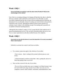 acc 291 week 3 discussion questions Study guide was exam answers questions acc 291 week 1,2,3 acc 291 final exam study  2,3,4,5 individual assignment and discussion questions here also.