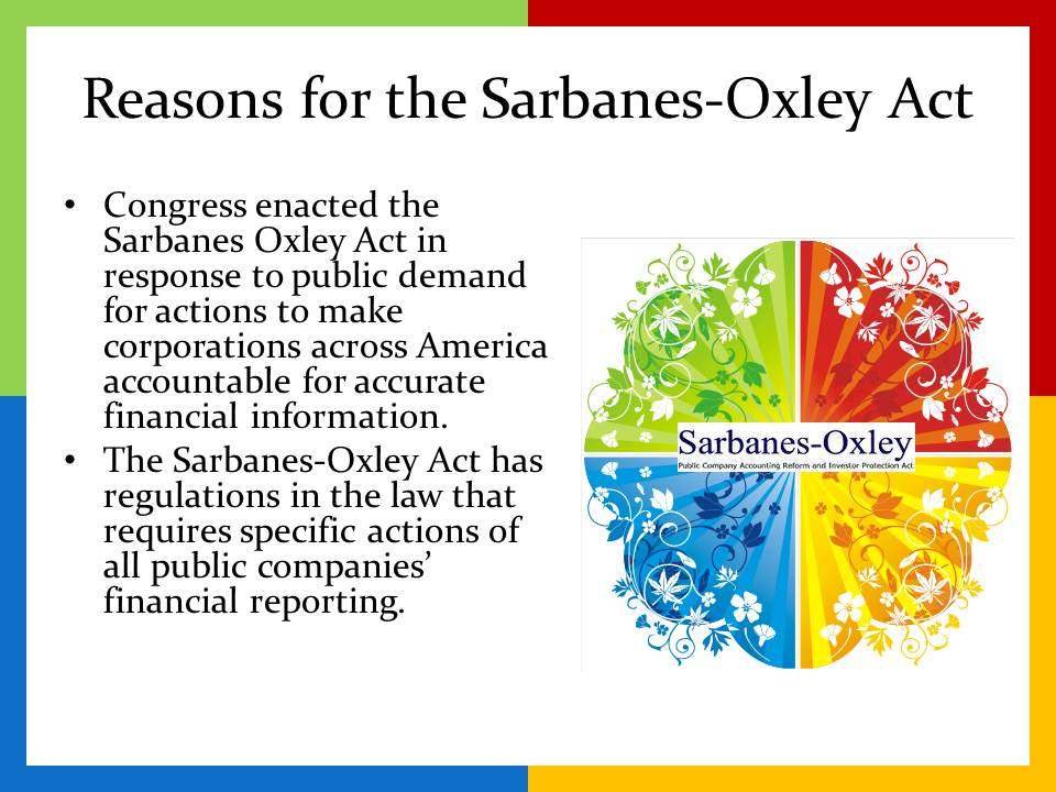 week 5 law 421 sarbanes oxley act H r 3763—5 (15) securities laws—the term ''securities laws'' means the  provisions of law referred to in section 3(a)(47) of the securities exchange act.