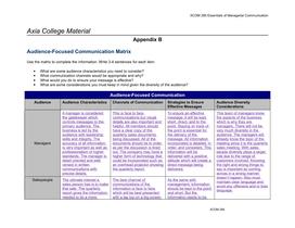 audience focused communication matrix appendix b Communication matrix appendix b: sample conflict project communication handbook project communication handbook project communication handbook.