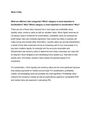 fin 402 week 3 dqs Fin 575 week 3 project proposal rating: a+ purchased: 16 times $899 fin  575 week 4 financial ratio analysis paper rating: a+  fin 575 week 1 dq 1.
