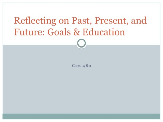 past present and future gen 480 essay Essay on music, culture,  and gen- der, overarching aspects  time amid this spatialization of the past, present, and future is somewhat different.
