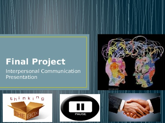 interpersonal communication graded project essay