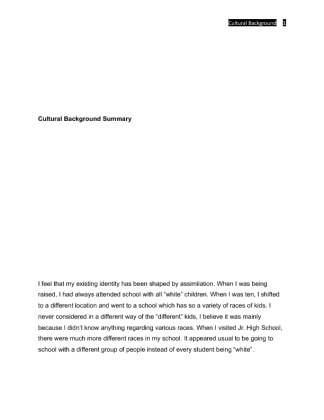 soc 315 week 1 individual assignment Sociology - general sociology individual assignment: media reaction resource: completedmulticulturalview homework help - soc 315 - week 2 assignment from soc 315 at ashford university.