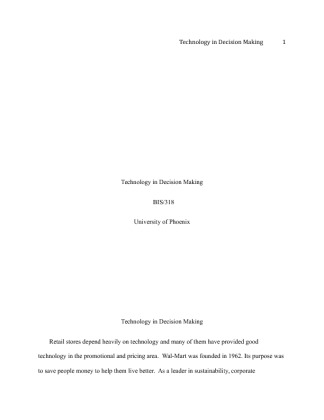 techonology and decision making paper hcs Hcs/482 health care informatics health care technology terms worksheet  to  assist the patient and employer in decision making as to whether the claim  should  personal impact paper university of massachusetts, amherst  nursing.