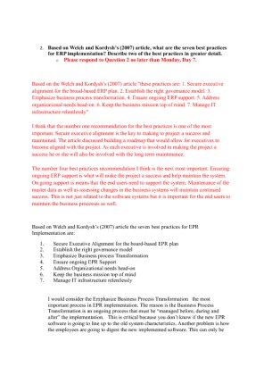 week 5 bsa 310 Uop bsa 310 week 5 dq 1 based on the chenoweth article (2010), what are the two areas of concern highlighted in the research regarding use of unsecured wireless networks explain the implicit threat this brings to corporate networks.