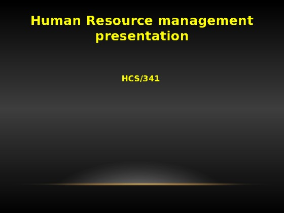 hcs 341 week 5 powerpoint