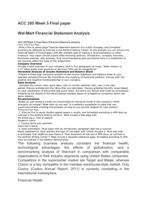 Term Paper on Financial Statement analysis   Assignment Point LinkedIn