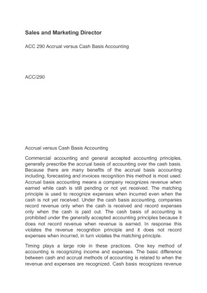accrrual method essay Essay example: accrual vs cost accounting we will write a custom essay  opposite of the cash method, the accrual method does not portray an excellent record of .