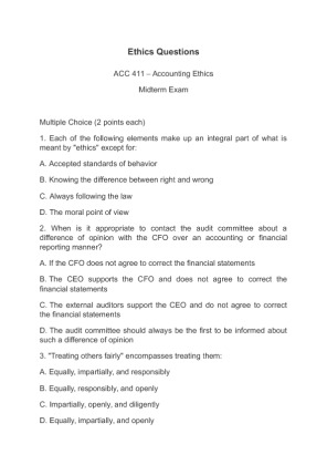 ethics mid term answers Mid-term exam, to be given in the library, from opening of the library  mon, mar   prepare definitions to key terms and answers to discussion questions for.