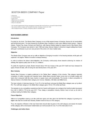 boston beer company 3 essay Ipo pricing for boston beer company inc sign up to view the whole essay and download the pdf for anytime access on your computer, tablet or smartphone.
