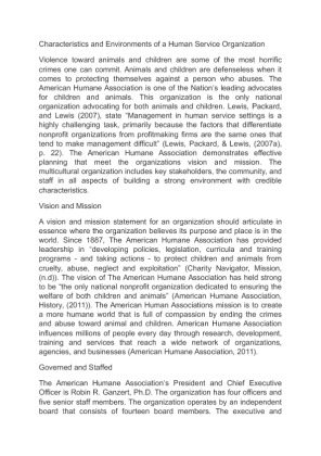 characteristics and environments of a human Effects of organizational characteristics factors on the implementation of  strategic human resource practices: evidence from malaysian manufacturing  firms.