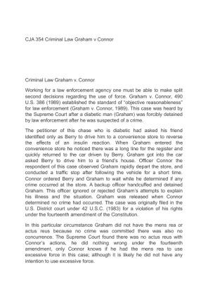 Cja 354 criminal law supreme court cases