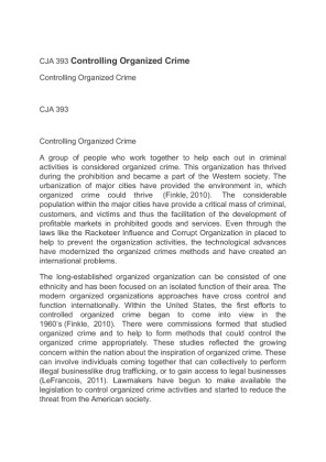 controlling organized crime Figure 1 economic growth, corruption and organized crime p148  sovereign  for state building and controlling economic life (la porta et al, 1999 david and.