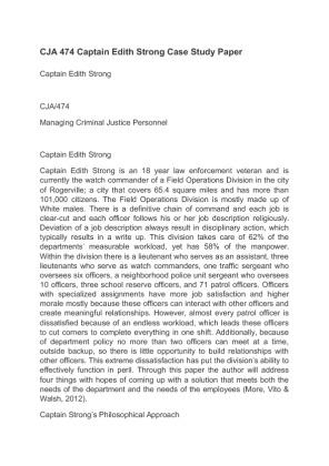 edith strong case study
