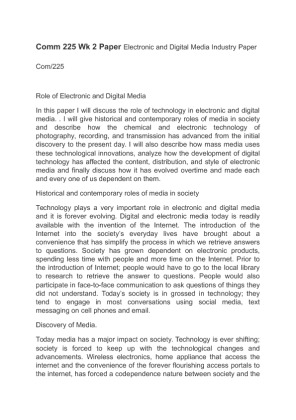 electronic and digital media industry paper This paper critiques the position that these platforms are technology  as  gillespie (2010) notes, many digital media companies use terms like  that fall  upon the electronic media sector, one can see why digital media.