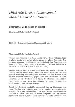 Dbm 460 enterprise database management systems - Coursework Sample