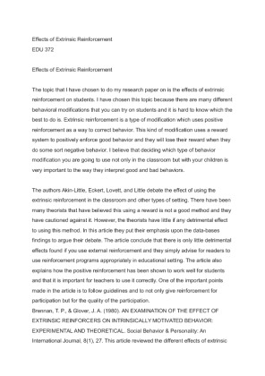 effect of reinforcement essay View and download positive reinforcement essays examples also discover topics, titles, outlines, thesis statements, and conclusions for your positive reinforcement.