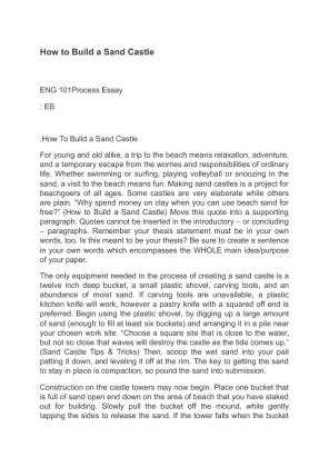 process essay how to build a campfire What is a definition essay a definition essay works to provide the nitty-gritty details about a word or concept for example, in an art class, you may be asked to write a definition essay on vermillion (a vivid reddish-orange color) or cubism, a specific approach to creating art.