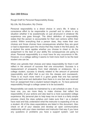 500 Word Essay On Responsibility Of Students