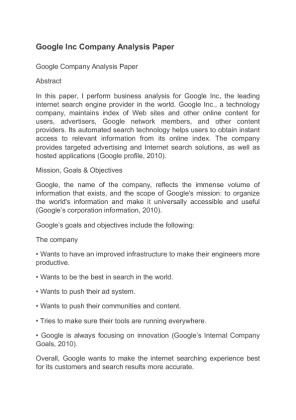 essay about google company Essays company google on wjec psychology py3 essays on success european acquisition of african colonies dbq essays oscar wao essay, abolition of child labour essay in.