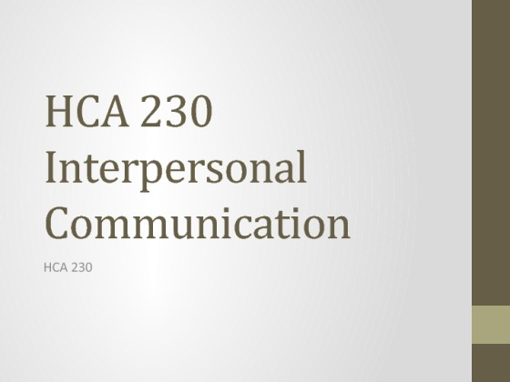 interpersonal communication final project Interpersonal communication the material for your final project will be built throughout the course the purpose of the interpersonal communication.
