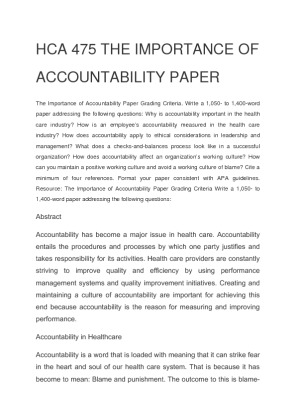 why accountability is important essay this is my 2500 word essay about responsibility and keeping accountability of being responsible in the us army has got to be of the utmost