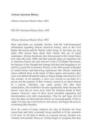 His 204 final paper