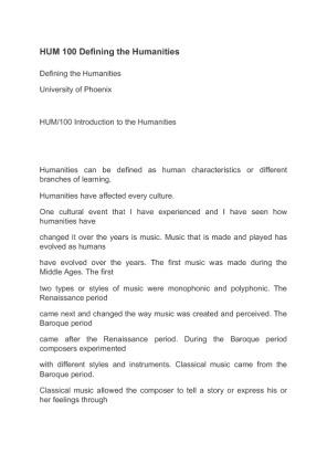hum 100 university of phoenix