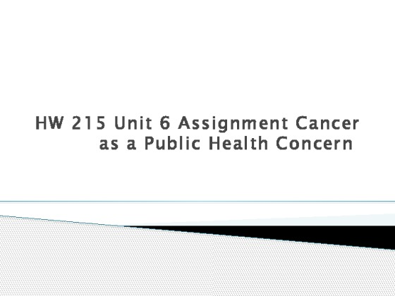 unit 6 general public health and wellbeing coursework