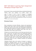 mgt 426 week 5 learning team Mgt 426 week 5 learning team assignment managing change paper and  presentation part iv this tutorial was purchased 26 times & rated a by student  like.