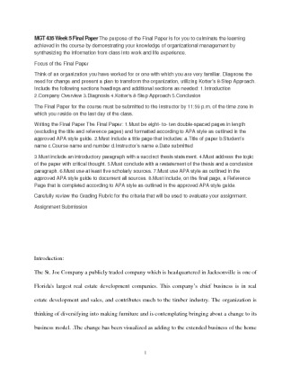 mgt 435 final paper