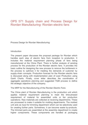 Process design supply chain powerpoint ops 571