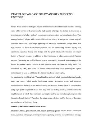panera bread case study