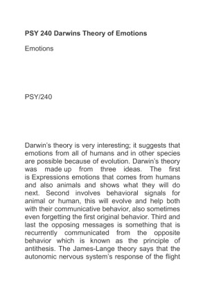 psy 240 emotions paper Check out our top free essays on emotions checkpoint to help you write your own essay brainiacom  join now login  search  saved papers  free essays on emotions checkpoint  search psy 240 week 7 checkpoint emotions psy  save paper 3 page 512 words psy 240 homework teaching.