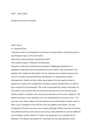 Wgu 1 task 2 | Research paper Sample - September 2019 - 2484